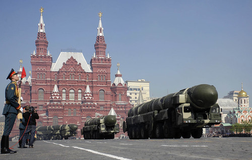 Soviet Style Military Parade In Moscow's Red Square