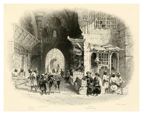 025-El Bazar o Zoco en el Cairo-Bartlett, W. H. 1849