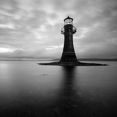 Whiteford Point Lighthouse I (Adam Clutterbuck) Tags: ocean uk longexposure greatbritain sea england blackandwhite bw lighthouse seascape monochrome wales square island mono coast blackwhite unitedkingdom britain bn coastal shore elements gb castiron gower bandw sq limitededition 500x500 whitford greengage llanmadoc adamclutterbuck sqbw bwsq showinrecentset shortedition whitefordpoint le50 winner500 winner500x500bestof limitededition50