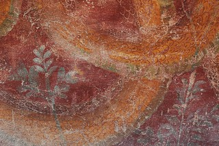 Close Up of a Serpent/Snake Wall Painting in Pompeii