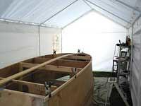 Tenda garasi perahu