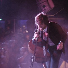 Okkervil River (Kerrie McSnap) Tags: music square concert nikon mood purple livemusic band atmosphere billboard gigs okkervilriver willsheff d60 500x500