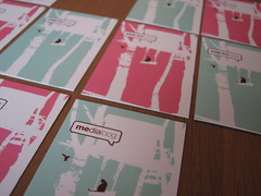 business cards (medialoog) Tags: pink illustration print cards graphicdesign moo webdesign business businesscards visitekaart medialoog