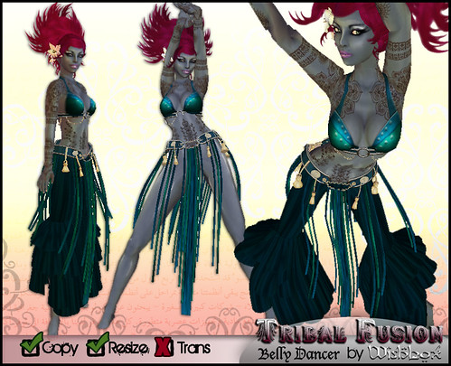 Tribal Fusion (turquoise) by Wishbox