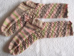 Lacy Diamonds Socks