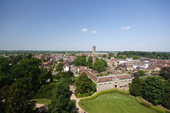 View of Warwick from the castle - Photo by Building History