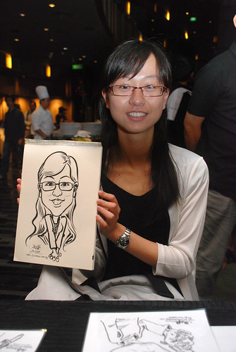 Caricature live sketching for CPGairport D&D - 5