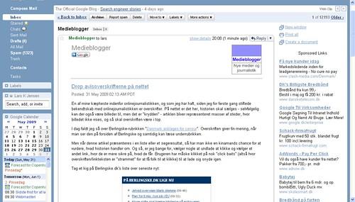 Medieblogger-nyhedsbrev i Gmail