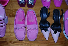 Isaac Mizrahi for Target Kelly driving moc & Colin Stuart slingbacks (PrincessPoochie) Tags: pink shoes princess target heels poochie isaacmizrahi colorstudy loafer colinstuart princesspoochie shoedaydreams drivingmoccasin