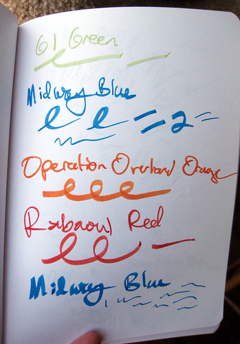 Noodler's inks tested at Boston Pen Show 2009, part 3