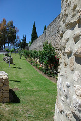 Ronda Old Wall II (cwgoodroe) Tags: summer costa white hot sol beach del bells spain ancient europe churches sunny bull bullfighter adobe ronda moors walls washed clothesline protective newbridge roda bullring stonebridge oldbridge spainish whitehilltown rondah spanishdoors