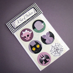 goth girl sticker set
