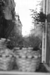 "PharmaStreet (Federico ""Phrezzo"" Innocenzi) Tags: barcelona blackandwhite bw reflection window monochrome shop canon monocromo spain espana pharmacy catalunya spagna farmacia 400d"