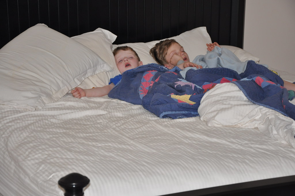 Ben & Jack Sleeping in My Bed 5
