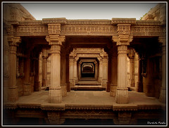 A Story from History [Explored # 390] (D a r s h i) Tags: old india building art architecture temple carving well explore historical legend gandhinagar mandir vav mughal stepwell adalaj ahemedabad adalajnivav exlpored