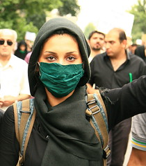 My Eyes Are Set On Freedom (ZhuPix) Tags: election iran protest streetphotography human tehran canon30d documentaryphotography