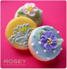 Flower cookie collection 3 (rosey sugar) Tags: wedding cake cookie decoration royal brush celebration icing piping favour sugarcraft embroidery