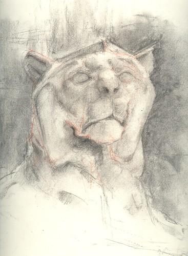 George Sq. Lion sketch