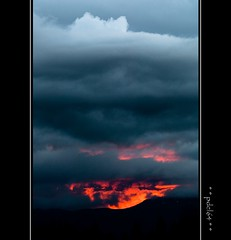 Volcano or not ! (pdel64@photography) Tags: sunset sky cloud sun clouds gris soleil nikon skies phil lumire d2x ciel jura nikkor delobel philippedelobel pdel64