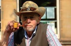 Ken (fast eddie 42) Tags: summer hat pipe waistcoat strawhat huddersfield pipesmoker urbanportrait fasteddie42