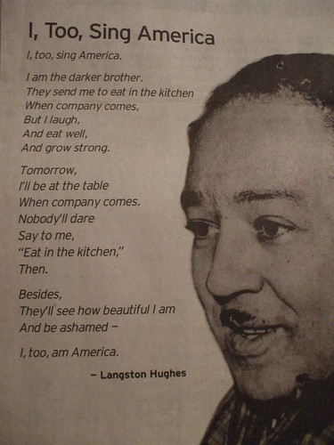 I, Too, Sing America - Langston Hughes