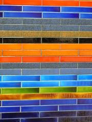 (urb_mtl) Tags: blue sculpture orange canada black art station yellow wall jaune subway tile lumix grey gris noir purple montréal metro quebec montreal mosaic métro violet 1966 bleu québec brique 1967 peel mur céramique mosaïque mousseau murale fz18 vitrifiée