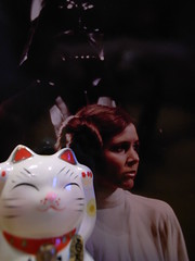 Maneki Neko (Jrme Sneuw) Tags: macro cat starwars chat princessleia manekineko leia princesse darkvador darthvador guerredestoiles ricohgrii chatportebonheur obeewankenobi