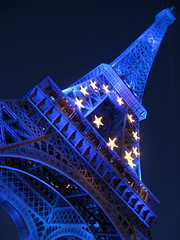 Tour Eiffel Bleu / Eiffel Tower /  /   () Tags: city blue vacation woman holiday paris tower girl architecture stars design steel eiffeltower landmark bleu latoureiffel toureiffel garota mulheres frau mujeres fille rtw vacanze roundtheworld  globetrotter gustaveeiffel  worldtraveler ladamedefer