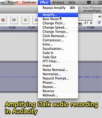 Amplifying iTalk audio recording in Audacity
