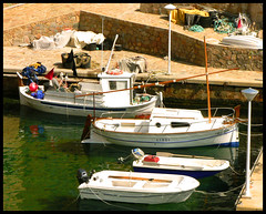 Harbour (angelsgermain) Tags: sea water port boats spring fishing mediterranean sailing harbour cove catalonia catalunya nets costabrava fornells baixempord abigfave