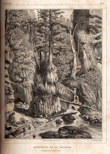 009-Una vista de la Caldera de Taburiente en la isla de la Palma 30 Mayo 1830