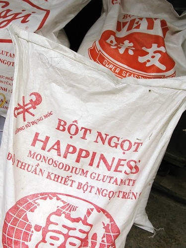 Giant bag of Happiness that really looks like MSG - Hanoi, Vietnam