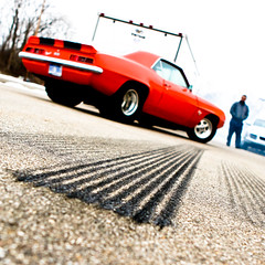 Burn Out Today... (Rudy Malmquist) Tags: blue orange black chevrolet out ss camaro burn chevy cult 1967 427 oyster gmfyi