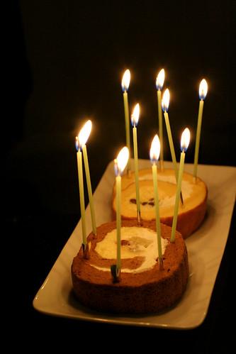 birthday roll cake