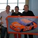 Tommy Strader Tony Stewart and Vincent Strader with painting