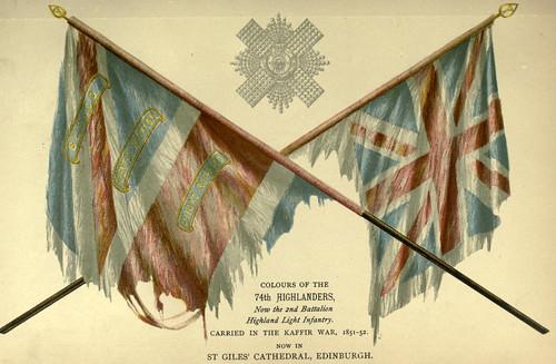 030-Banderas del 74 regimiento de Highlanders