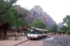 Shuttle Busses at Zion Lodge