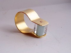 brass and glass ring