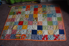Eamon's First Mama-Made Quilt! (Tiny House) Tags: quilt moda patchwork recess