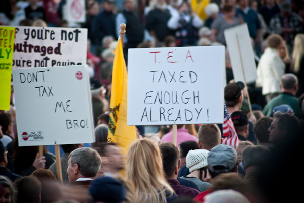 Signs at the tea party