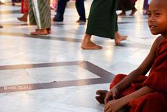 guardare lontano (sem.shots) Tags: nikon asia buddha monaco myanmar colori rangoon tempio bambino profilo birmania buddismo nikond40x earthasia