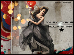 Miley Cyrus - Rockstar ( alezpar) Tags: music color photoshop michael emily rockstar brothers hannah banner rosa disney pop musica cyrus jonas diseo cultura brillos breakout miley musso montanna womanizer destellos theclimb 7things osmen hannamontannathemovie