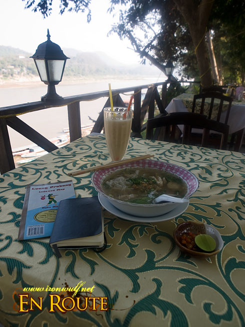 Luang Prabang  Kao Pick Sen (Lao Spaghetti Soup and Vegetable)