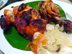 bbq chicken inasal (_gem_) Tags: friends food chicken kitchen dinner bench philippines bbq meat barbecue manila greenbelt makati makaticity metromanila inasal estrogenbench achara ebun atsara