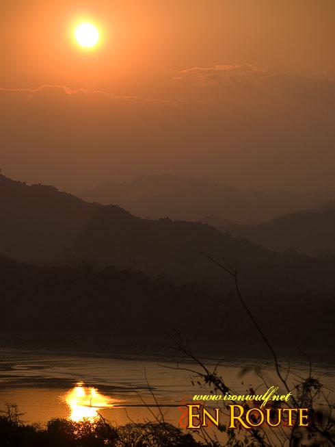 Phu Si Hills Luang Prabang Mekong Sunset