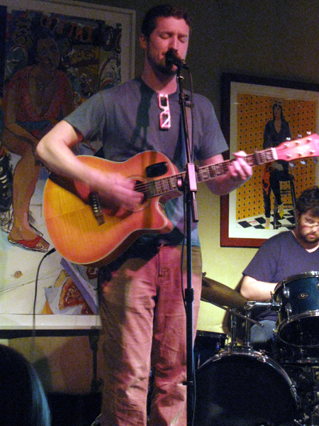 Dave Applegate at Milkboy Coffee (Click to enlarge)
