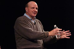 Steve Ballmer (Norbert Stuhrmann) Tags: boss windows water bottle chef stanford microsoft ceo etl ballmer extroverted extrovert steveballmer stanforddaily