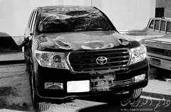 ([   ]) Tags: auto car bahrain 4x4 crash accident toyota suv 2008 landcruiser v8   gxr        albinfalah