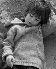 angel in the sand (natamagat) Tags: winter boy portrait white black sunny lymeregis february09
