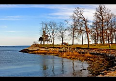 Cove Curves (Lanamaniac) Tags: park trees sky nature water photography photo spring nikon rocks bend connecticut newengland ct stamford nikkor curve 2009 longislandsound conn d90 covepark nikond90 mywinnners citrit lanamaniac lanamaniacphotography